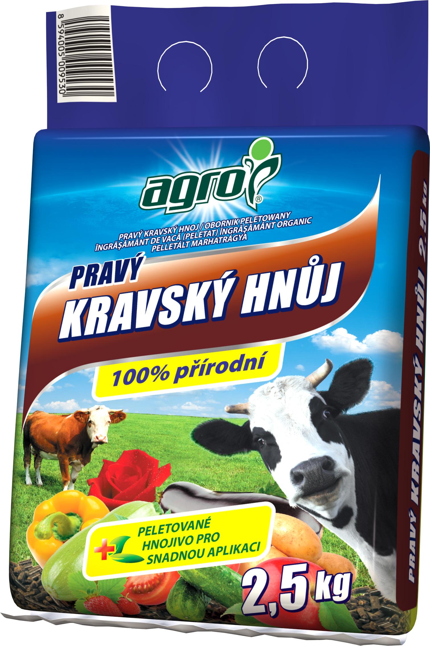 AGRO Kravský hnůj 2,5kg