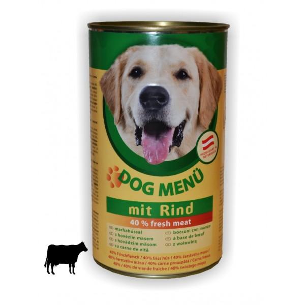 Konzerva Dog menü hovězí 1240g