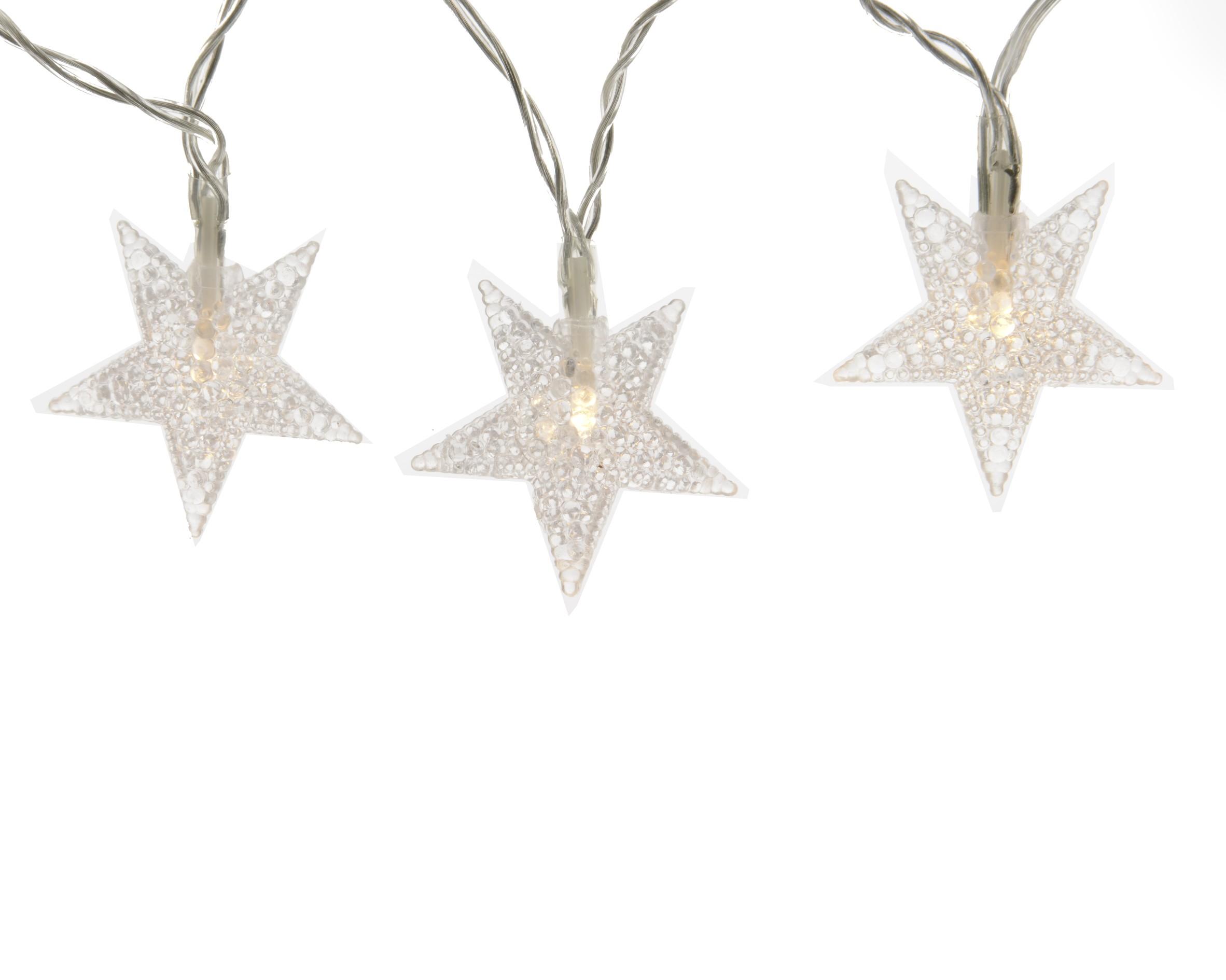 Světelný LED řetěz hvězdy 4m