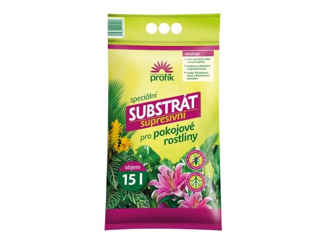 Substrát pro pokojové rostliny supresivní 15l