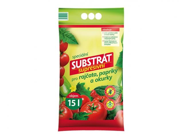 Substrát pro rajčata, papriky a okurky supresivní 15l