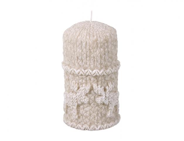 Svíčka vánoční SOB VÁLEC d7x12,5cm/stearin/vanilka