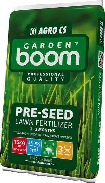 Trávníkové hnojivo Garden Boom Pre-Seed 15kg