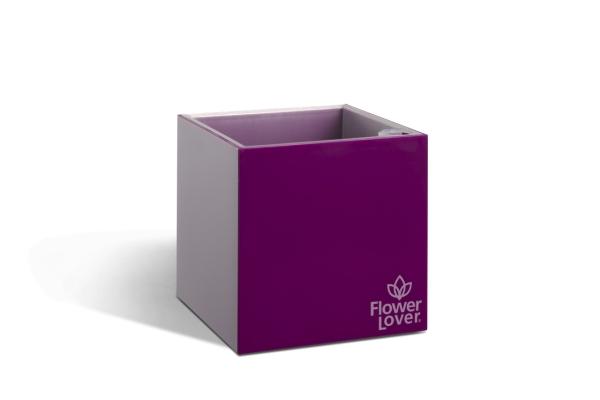 Samozavlažovací květináč CUBICO 9cm fialová