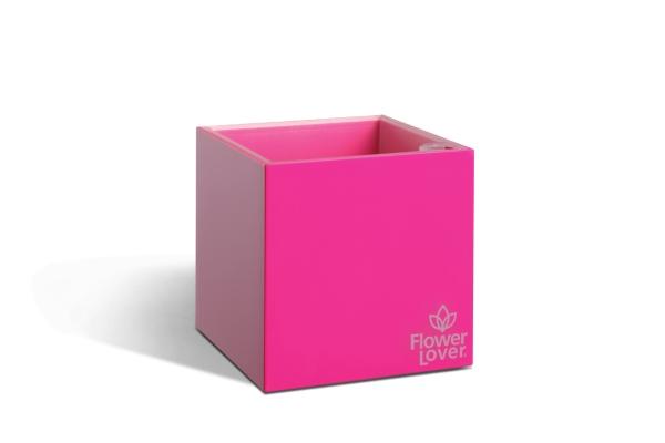 Samozavlažovací květináč CUBICO 9cm růžová