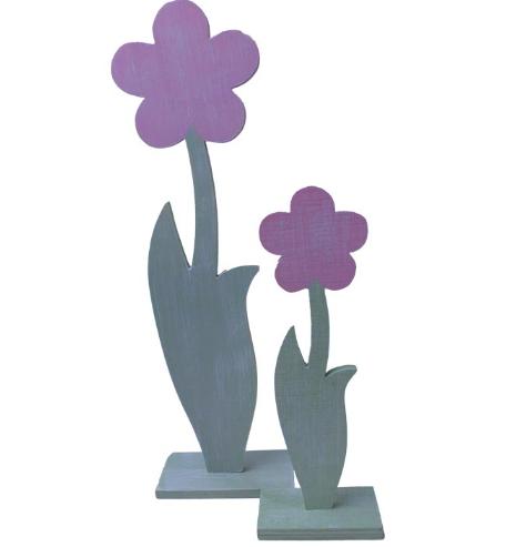 Dřevěné květiny sada 2ks