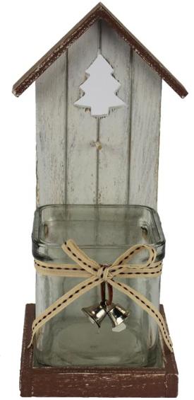 Dekorace na svíčku se stromečkem