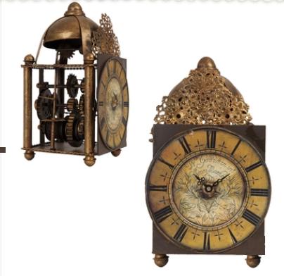Stojací hodiny kovové 15x15x26cm