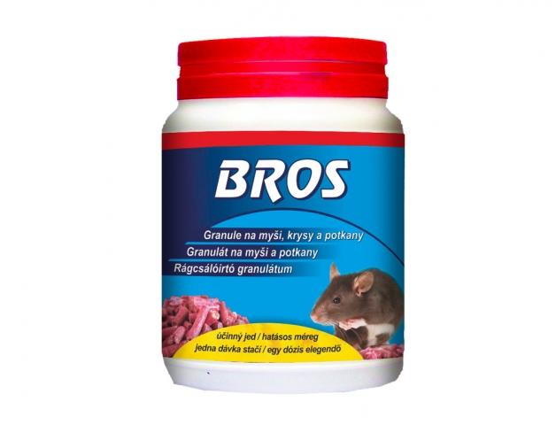 BROS-granule na myši, krysy a potkany dóza 500g
