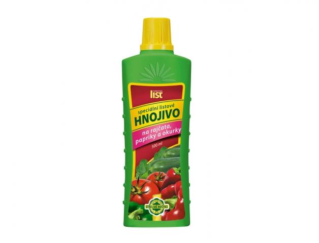 Listové hnojivo na rajčata, papriky a okurky 500ml