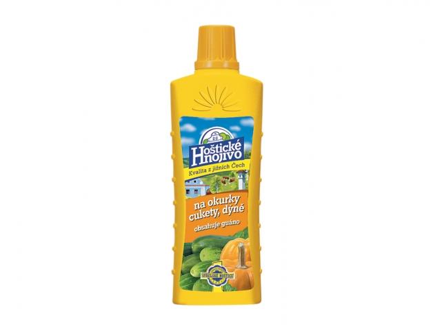 Hoštické hnojivo OKURKY+CUKETY s guánem 500ml
