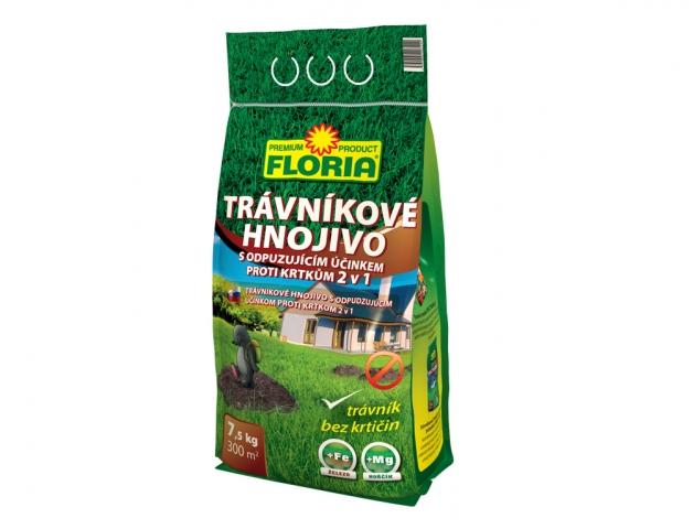 Hnojivo Agro FLORIA Trávníkové hnojivo s odpuzujícím účinkem 7,5kg
