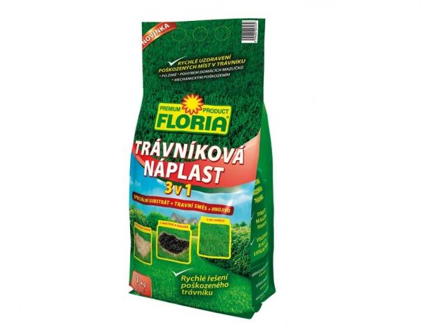 Agro FLORIA Trávníková náplast 3 v 1 - 1kg