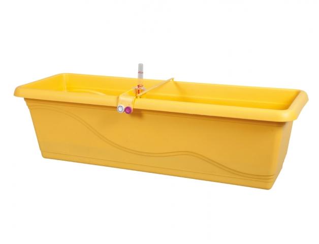 Truhlík samozavlažovací EXTRA LINE SMART 80cm žlutý
