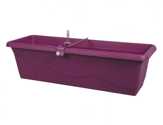 Truhlík samozavlažovací EXTRA LINE SMART 80cm fialovo-růžová