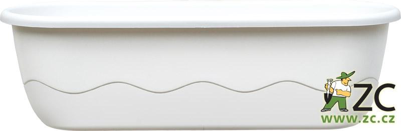 Truhlík samozavlažovací Mareta 80cm bílá+bílá