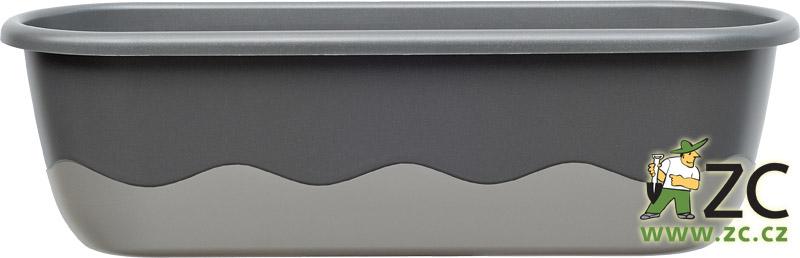 Truhlík samozavlažovací Mareta 60cm tmavě a světle antracit
