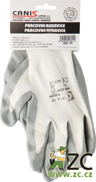 Rukavice polomáčené nylonové s euozávěsem- Abrak vel. 10 ZC
