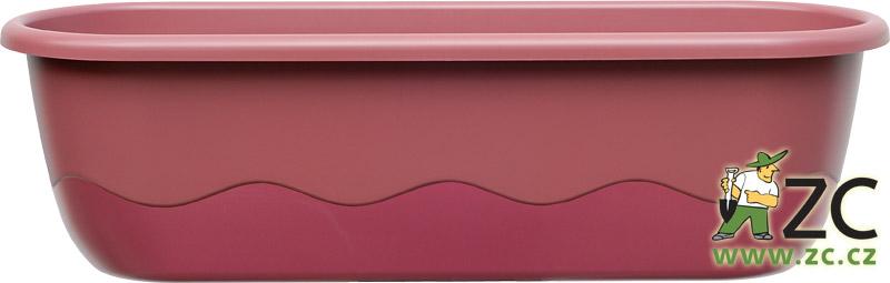Truhlík samozavlažovací Mareta 80cm růžová + vínová