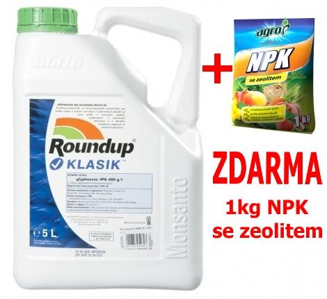 Roundup KLASIK 5l + zdarma NPK 1kg pro celou zahradu