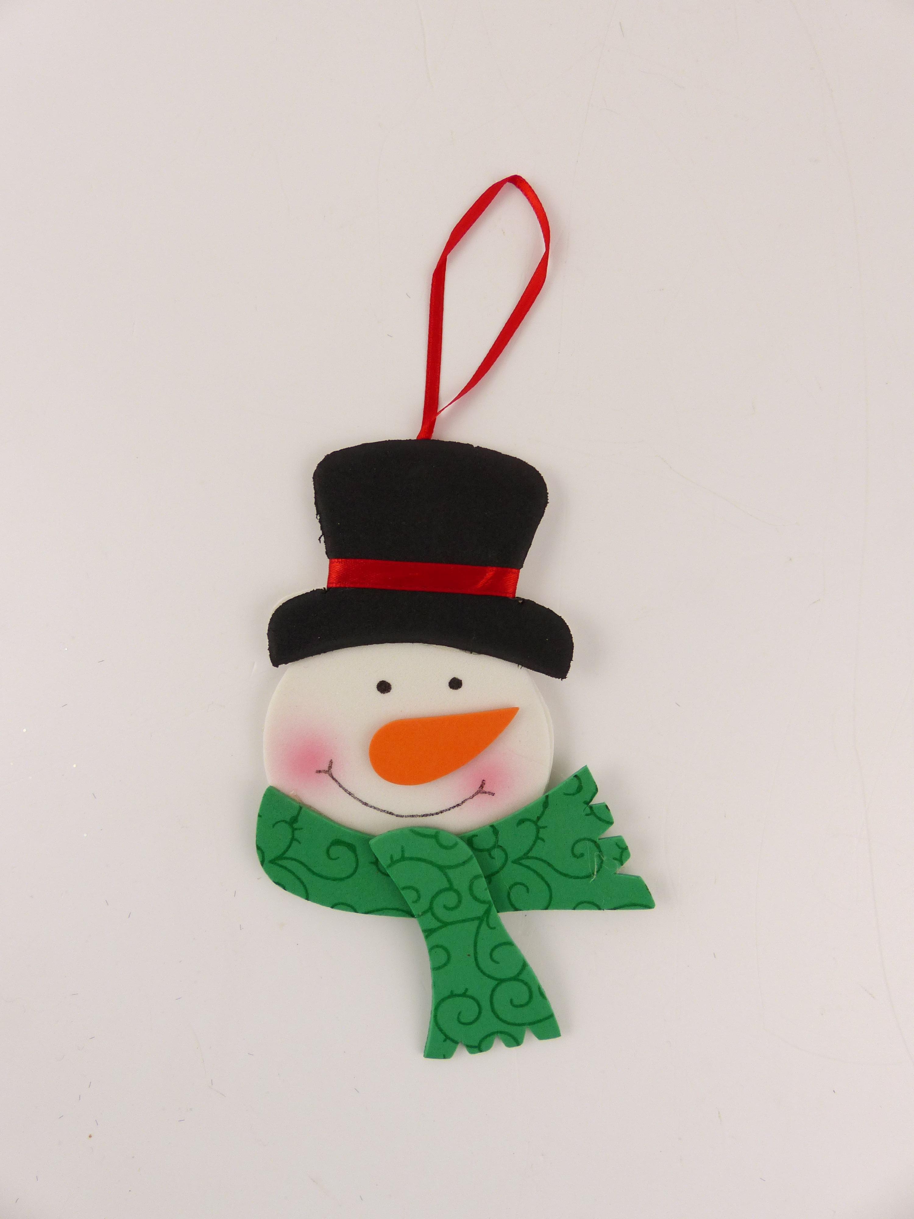 Závěsná dekorace sněhulák