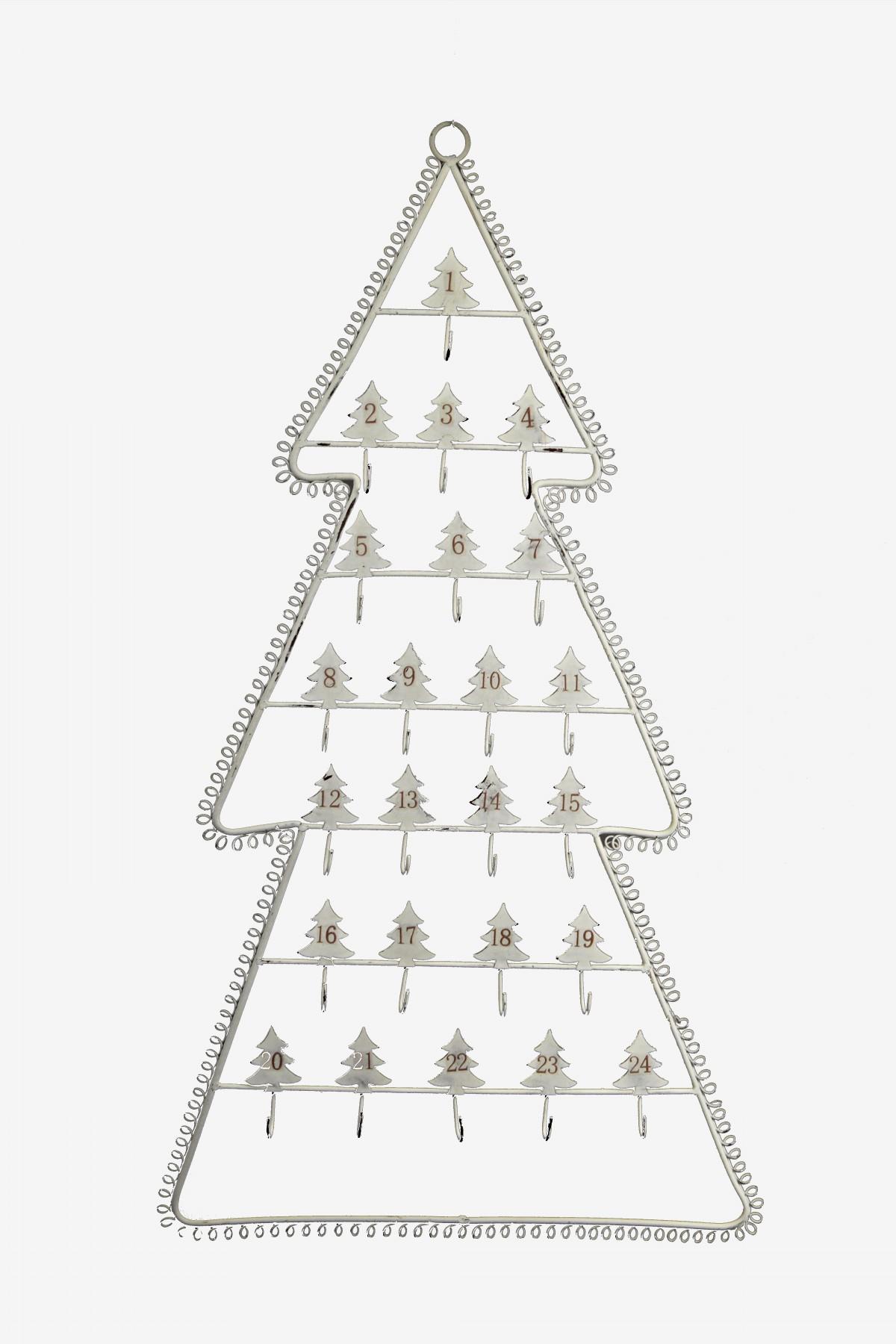 Strom adventní kalendář bílý