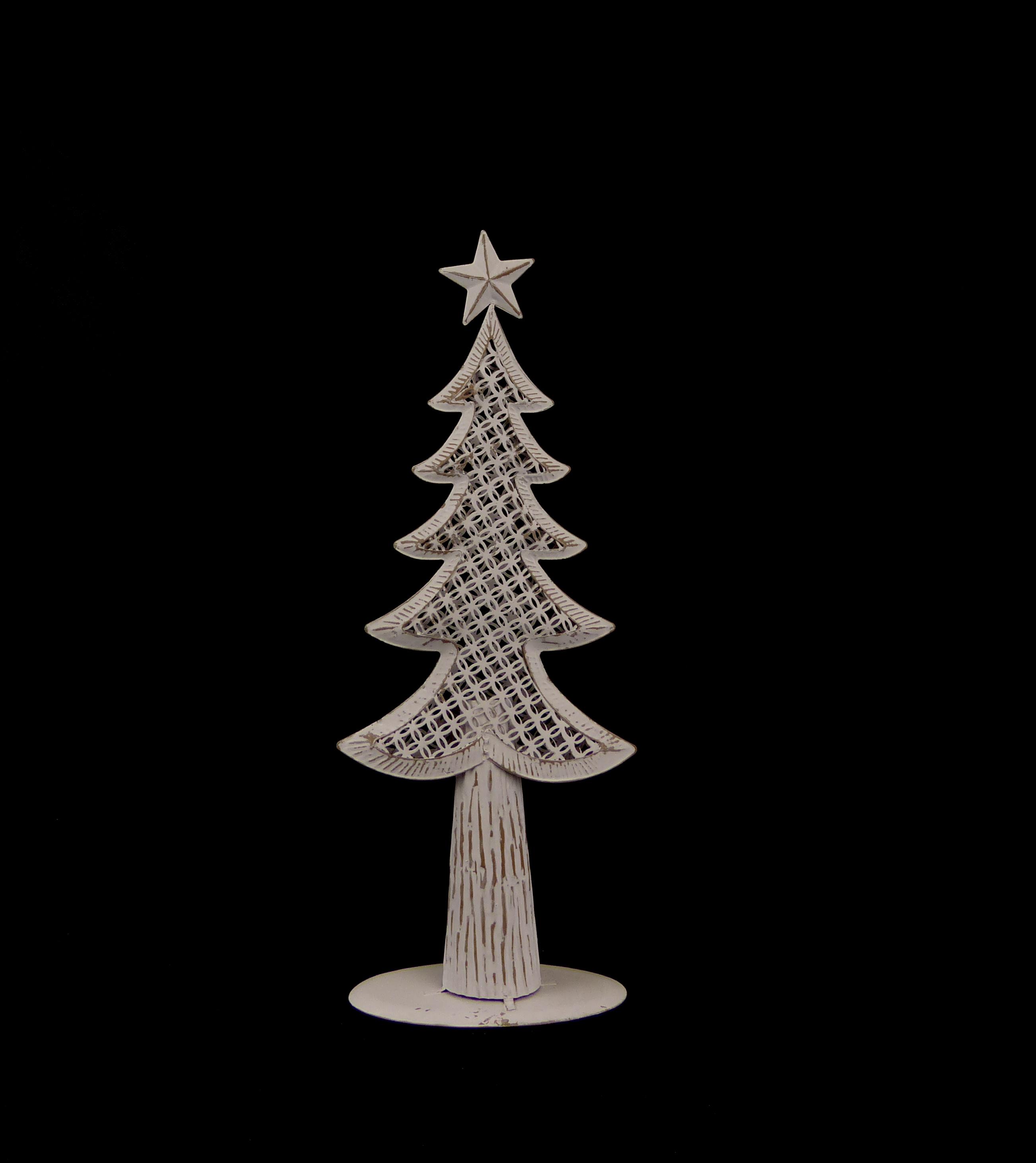 Stromek bílý plechový