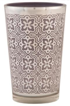 Svícen na čajovou svíčku 7x11cm hnědý