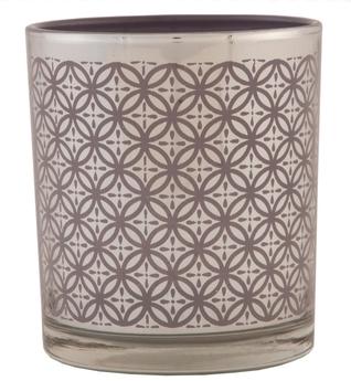 Svícen na čajovou svíčku 7x8cm hnědý
