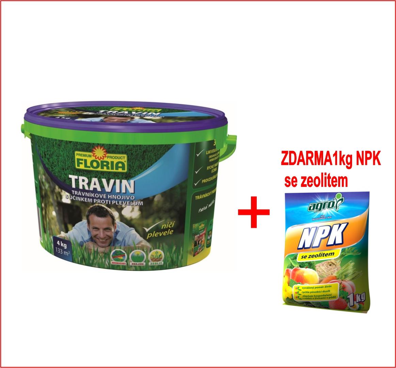 Hnojivo Agro KT Travin 4 kg + zdarma NPK 1kg pro celou zahradu