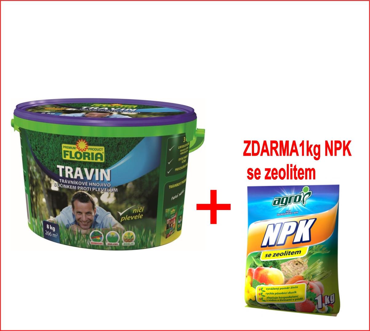 Hnojivo Agro KT Travin 8 kg + zdarma NPK 1kg pro celou zahradu