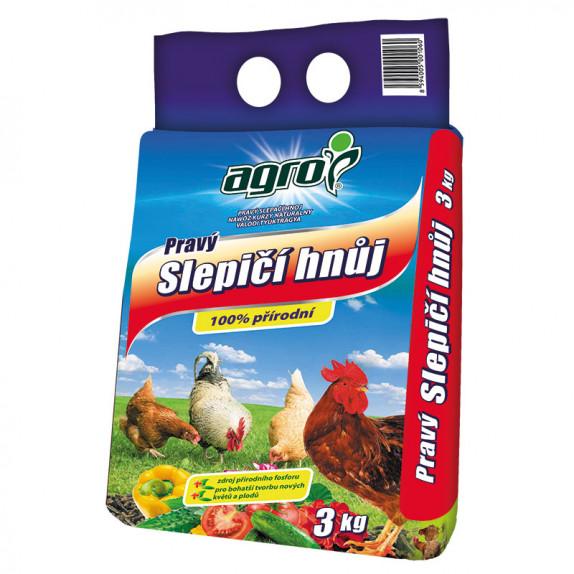 AGRO Pravý slepičí hnůj 3 kg