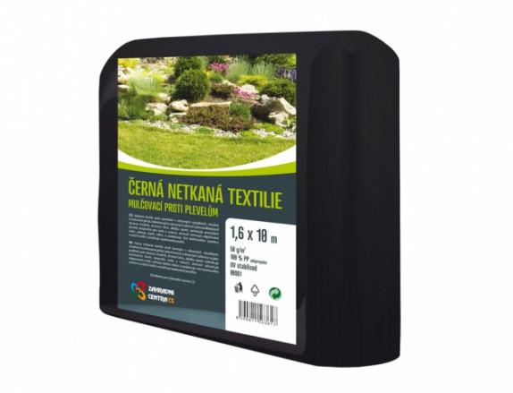 Netkaná mulčovací textilie 1,6x10m černá