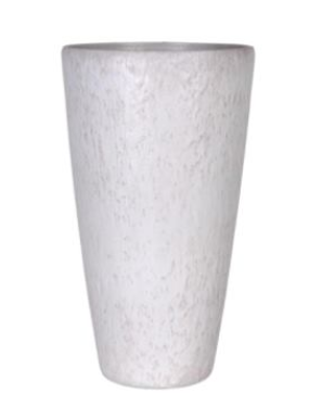 Váza Roto Pebble wit d30x52h