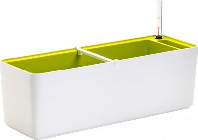 Truhlík samozavlažovací Berberis 60cm bílá + zelená