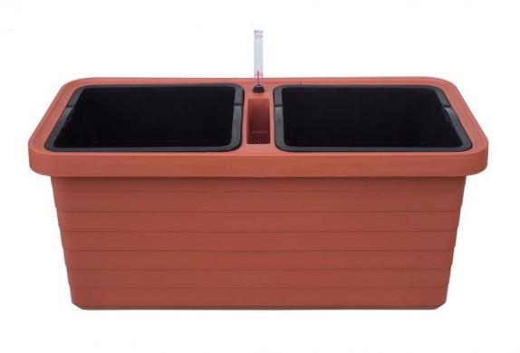 Truhlík samozavlažovací Berberis DUO terakota 80 cm