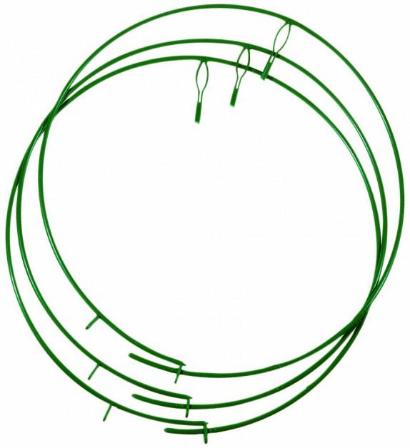 držák pro pnoucí rostliny stavitelný zelený plast 250-400mm, 3ks