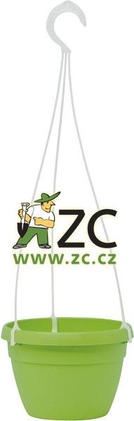 Květináč Lavaredo závěsný - zelený 25cm ZC