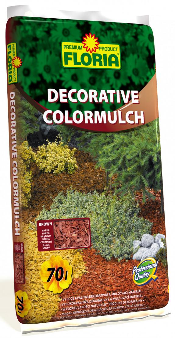 FLORIA Decor. ColorMulch hnědá 70 l