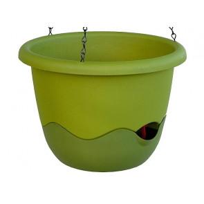 Samozavlažovací závěsný květináč Mareta 25cm zelená