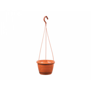 Květináč závěsný s podmiskou LOGATO d25x17h/lesklý