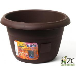 Žardina samozavlažovací Siesta bez závěsu- čokoláda 25cm