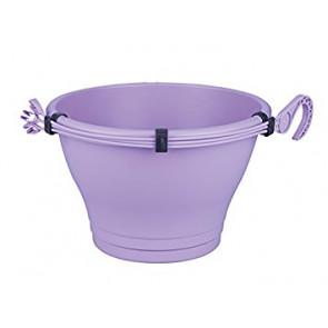 Květináč Corsica závěsný s miskou-30cm soft lavender