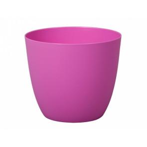 Obal na květník PATRICIE plastový fialovo růžový d13x12cm