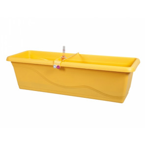 Truhlík samozavlažovací EXTRA LINE SMART 60cm žlutý