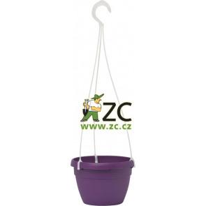 Květináč Lavaredo závěsný -25cm fialový